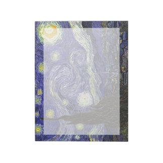 Noche estrellada, Vincent van Gogh. Bloc De Notas