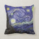 Noche estrellada, Vincent van Gogh. Cojin