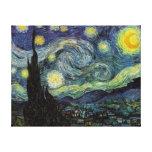 Noche estrellada, Vincent van Gogh Impresiones En Lona Estiradas