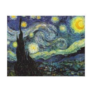 Noche estrellada, Vincent van Gogh Impresiones En Lona