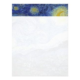 Noche estrellada Vincent van Gogh Membretes Personalizados