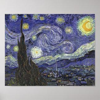 Noche estrellada - Vincent van Gogh Poster