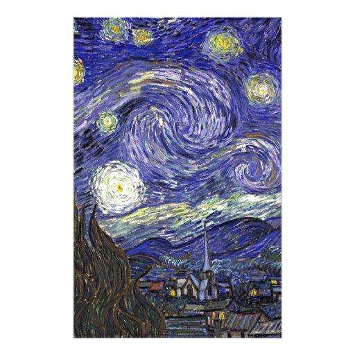 Noche estrellada, Vincent van Gogh. Papelería De Diseño