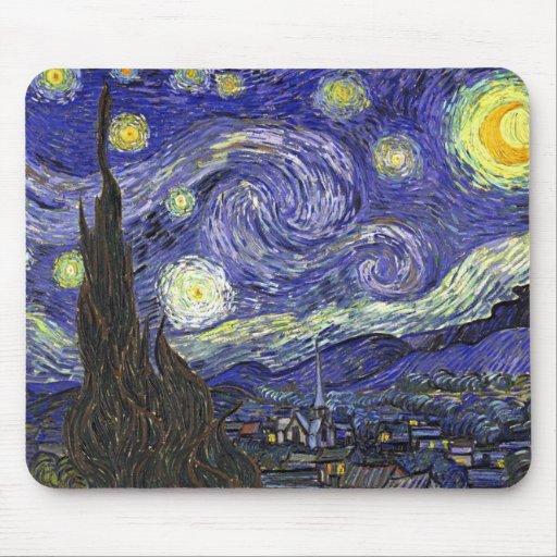Noche estrellada, Vincent van Gogh. Tapetes De Raton