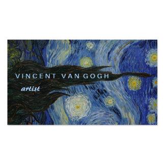 Noche estrellada Vincent van Gogh Tarjetas De Visita