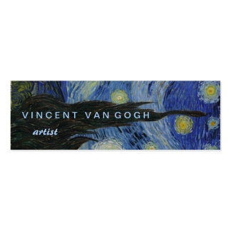 Noche estrellada Vincent van Gogh Plantillas De Tarjeta De Negocio