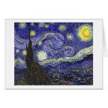 Noche estrellada, Vincent van Gogh. Tarjetas