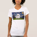 Noche estrellada - Westie 2 Camiseta