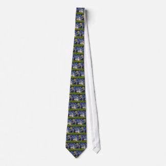 Noche estrellada - Whippet #2 Corbata Personalizada