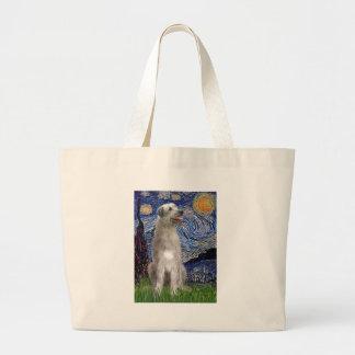 Noche estrellada - Wolfhound irlandés Bolsa Tela Grande