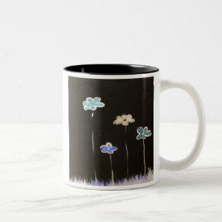 noche floral taza