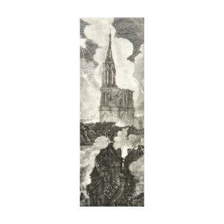 Noche Franco-Prusiana de la guerra de la catedral  Impresión En Tela