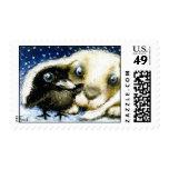 Noche fría de diciembre sellos
