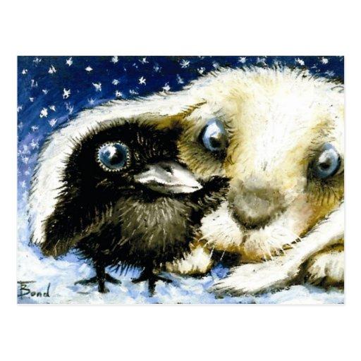 Noche fría de diciembre tarjetas postales
