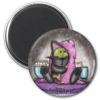 Noche-Gato y ratón asustadizos de la película Imán De Frigorífico