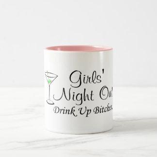 Noche hacia fuera Martini de los chicas Taza De Dos Tonos