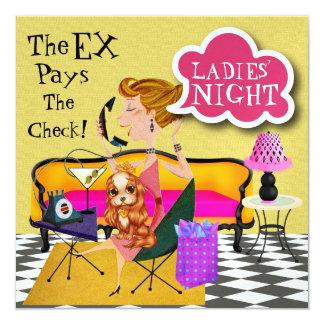 """Noche hacia fuera - SRF de las señoras Invitación 5.25"""" X 5.25"""""""