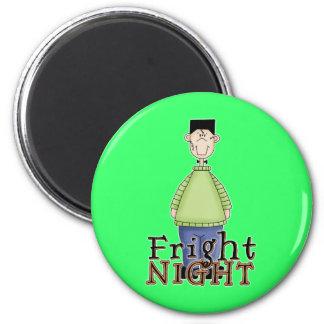 Noche Halloween del susto de Frankenstein Imán Redondo 5 Cm