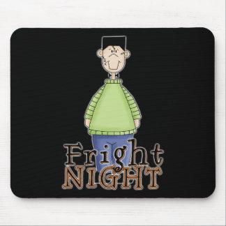 Noche Halloween del susto de Frankenstein Alfombrillas De Raton