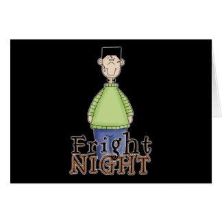 Noche Halloween del susto de Frankenstein Tarjeta