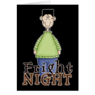 Noche Halloween del susto de Frankenstein Felicitación