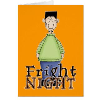 Noche Halloween del susto de Frankenstein Felicitaciones