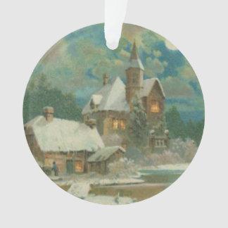 Noche hivernal de la Nochebuena del vintage