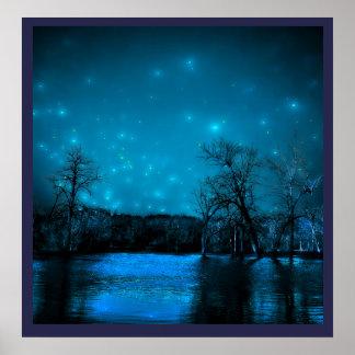 Noche inundada póster