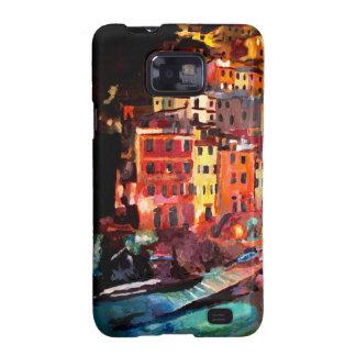 Noche mágica de Cinque Terre en Riomaggiore Galaxy S2 Funda