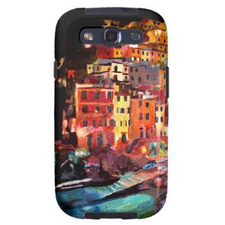 Noche mágica de Cinque Terre en Riomaggiore Samsung Galaxy S3 Funda