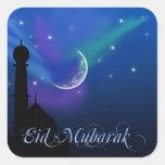 Noche mágica de Eid - pegatina islámico del saludo