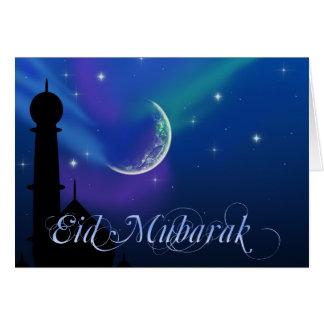 Noche mágica de Eid - tarjeta de felicitación