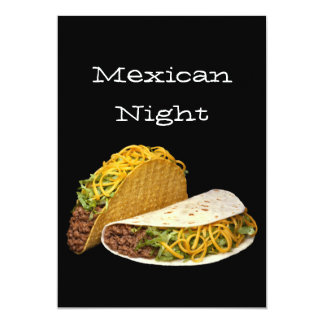 Noche mexicana invitación 12,7 x 17,8 cm