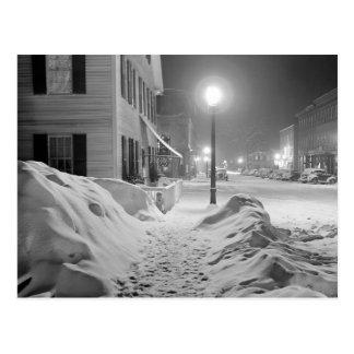 Noche Nevado en Vermont, 1940 Tarjeta Postal