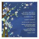 Noche preciosa en la invitación azul del boda del
