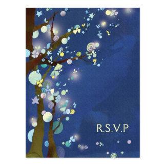 Noche preciosa en RSVP que se casa azul (4.25x5.6) Postal