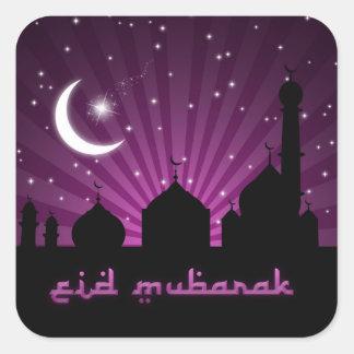 Noche púrpura de la mezquita de Eid - pegatina