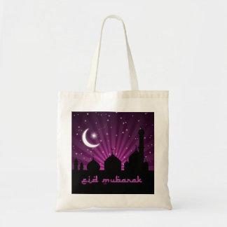 Noche púrpura de la mezquita de Eid - tote del