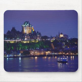 Noche Quebec Mousepad del castillo de Frontenac de