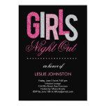 Noche reluciente de los chicas hacia fuera/fiesta invitación 12,7 x 17,8 cm