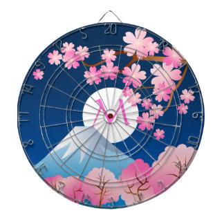 Noche Sakura de Japón de la primavera de las