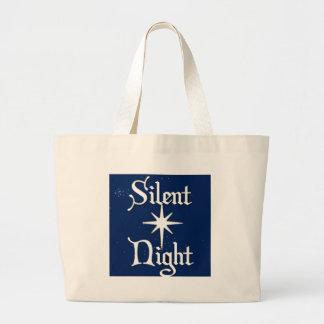 Noche silenciosa bolsa tela grande