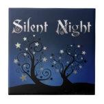 Noche silenciosa de los árboles estrellados teja cerámica
