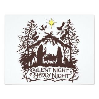 "Noche silenciosa invitación 4.25"" x 5.5"""
