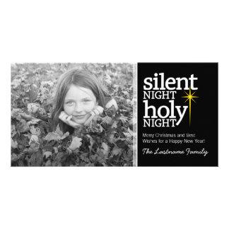 Noche silenciosa, navidad santo del cristiano de l tarjetas fotograficas