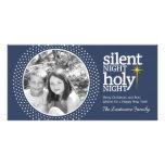 Noche silenciosa, navidad santo del cristiano de tarjetas fotograficas