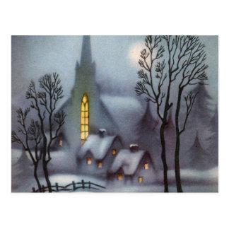Noche silenciosa Nevado Tarjeta Postal