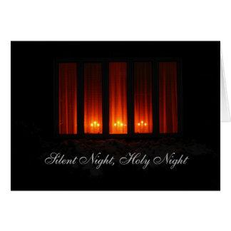Noche silenciosa, noche santa tarjeta de felicitación