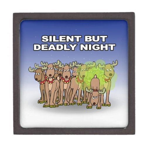 Noche silenciosa pero mortal cajas de recuerdo de calidad