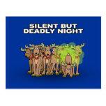 Noche silenciosa pero mortal postal